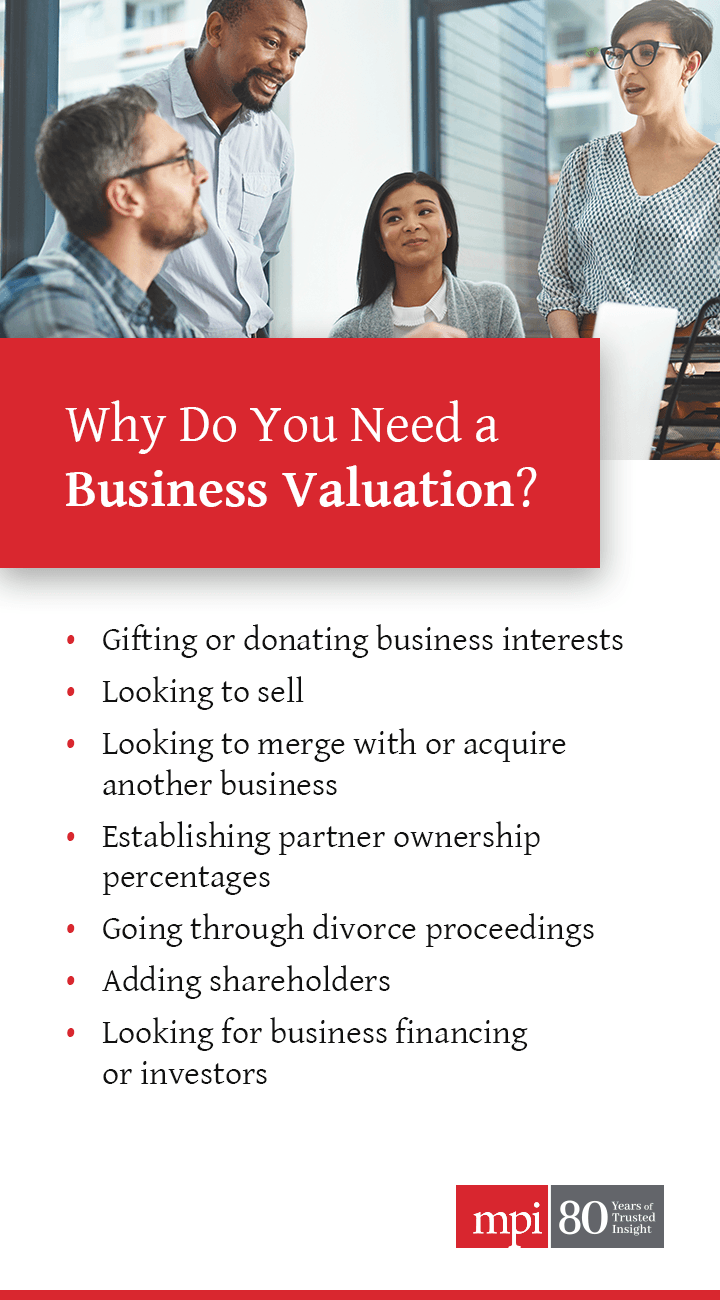 Why Do You Need a Business Valuation?